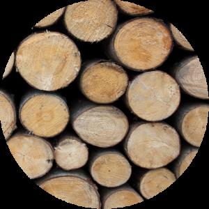 madera circulo